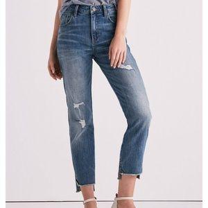 LUCKY BRAND • High Rise Step Hem Tomboy Jeans